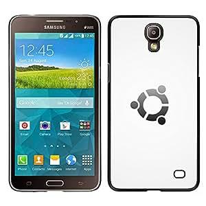 A-type Arte & diseño plástico duro Fundas Cover Cubre Hard Case Cover para Samsung Galaxy Mega 2 (Portal Blanca)