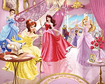 walltastic princess fairy castle mural