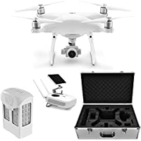 DJI CP.PT.000698 Phantom 4 Advanced+ Quadcopter Bundle with Spare Intelligent Flight Battery and Hardshell Custom Carrying Case