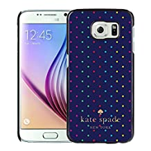 Luxurious And Nice Custom Designed Kate Spade Cover Case For Samsung Galaxy S6 Black Phone Case 207