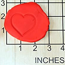 Valentine's Day Heart Shape Cupcake Size Decorating Fondant Stamp and Handle #1457