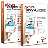 iPhone Smart USB Flash Drive 16GB [Apple MFI Certified] Picture Keeper Connect - Lightning Memory Expansion/Backup for Apple iOS (2-Pack Bundle)