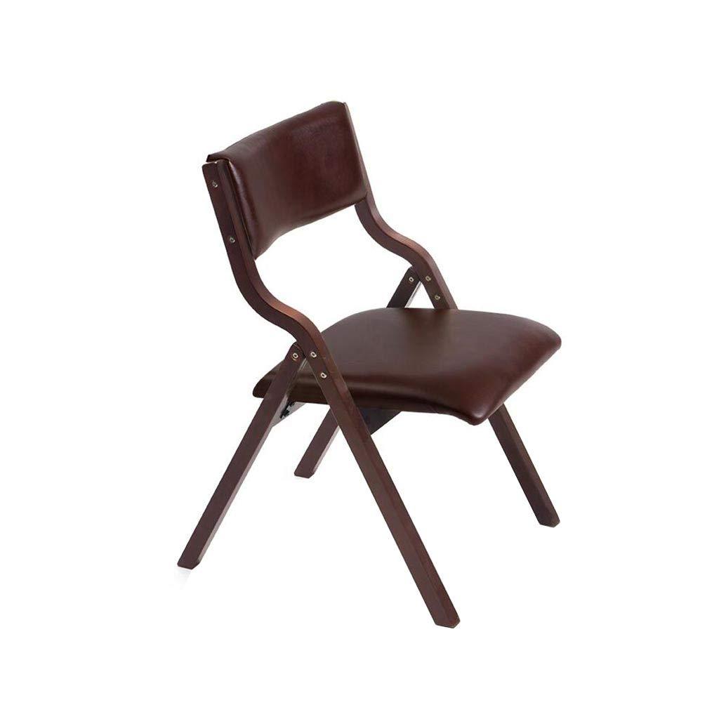 QZ HOME Stühle, Klappstuhl Computer Stuhl Sonnenliege Fauler Stuhl Mittagspause Stuhl Massivholz Einfach Modern Haushalt (Farbe : Braun)