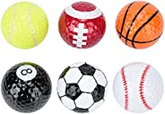 Golf Ball 6 pcs Novelty Sports Golf Balls Basketball Soccer Tennis for Indoor Outdoor Training Golfer Gift