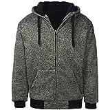 Gary Com Marled Men Hoodies, Heavyweight Sherpa Lined Fleece Full Zip Sweatshirts Jackets