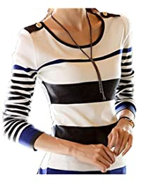 Women Slim Striped knited Sweater autumn basic shirt Pullover sweaters