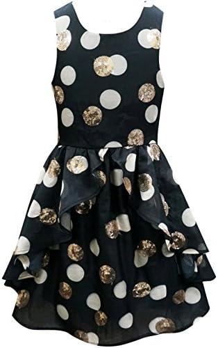 5218affcaecb Hannah Banana Big Girls Geometric Burnout Skater Dress w/Sequin Accents,  7-16