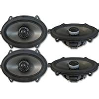 4 x Polk Audio MM 5x7 Inch 2-way Car Audio Boat Motorcycle Ultra Marine Speakers 5x7