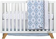 NoJo 3Piece Crib Bedding Set, Blue/Gray/White