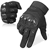 JIUSY Touch Screen Military Rubber Hard Knuckle Tactical Gloves Full Finger and Half Finger Cycling Motorcycle Gloves