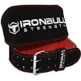 Weight Lifting Belt - 6-inch Padded Suede Leather Lifting Belt - Heavy Duty And Comfortable Back Support For Heavy Weight Lifting