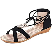 YING LAN Women Low Heeled Summer Wedges Alone Casual Fashion Shoes Woman Sandal