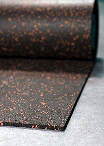 New Brick Red, IncStores Rubber Mats 4ft x10ft Home Gym Flooring & Equipment Mats Rubber Buffings & EPDM Flecks