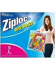 Ziploc Storage Bags, Double Zipper Seal & Expandable Bottom, Jumbo