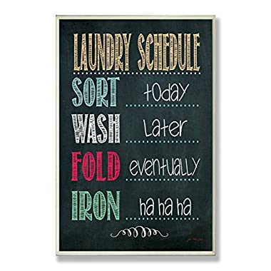 The Stupell Home Decor Collection Laundry Schedule Chalkboard Bathroom Wall Plaque
