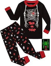 Little Boys Pirate Ship Pajamas Children Halloween and Christmas PJs 100% Cotton Sleepwear