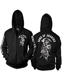 Officially Licensed Merchandise SOA American Reaper Zipped Hoodie
