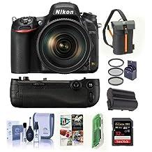 Nikon D750 FX-Format DSLR Camera with AF-S NIKKOR 24-120mm f/4G ED VR Lens - Bundle with 32GB SDHC, Camera Bag, 77mm Filter Kit, Nikon MB-D16 Battery Pack, Spare Battery, Software Package and More