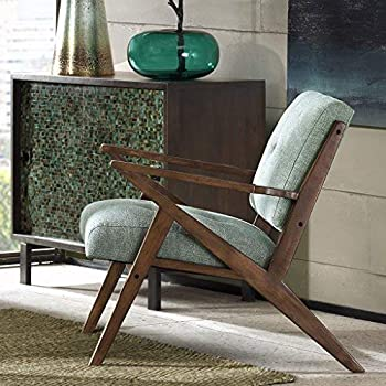 Rocket - Mid Century Modern Accent Lounge Arm Chair - Comfortable All Foam - Sturdy Solid Wood Frame Z Rocket Style - Tufted Upholstery - Seafoam - INK+IVY