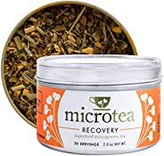 Microtea Recovery - Loose Leaf Turmeric Tea with Ginger and Superfood Microgreens, Enhances Recovery, Promotes