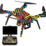 MightySkins Protective Vinyl Skin Decal for 3DR Solo Drone Quadcopter wrap cover sticker skins Hyper