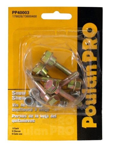 Poulan Pro PP40003 6-Pack of Snow Thrower Sheer Pins and Bolts product image