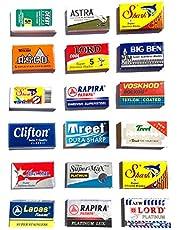 Astra-Derby-Shark-Lord-Treet-Voskhod-Rapira 100 Quality Double Edge Razor Blades Sampler (18 different brands)