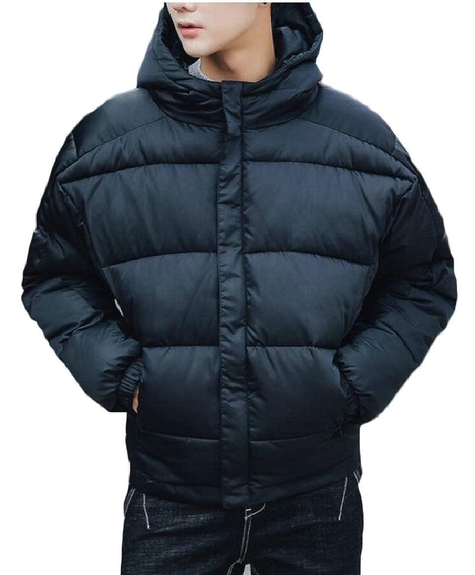 a2feb7c0159c 2 Qiangjinjiu Men's Thicken Hooded Zipper Puffer Puffer Puffer Down Jackets  Outdoor 0a0f2e