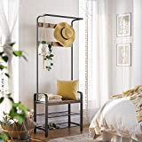 VASAGLE DAINTREE Coat Rack, Shoe Bench, Hall Tree