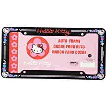Chroma 6004 Hello Kitty Glitter License Plate Plastic Frame