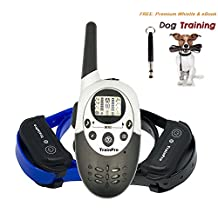 TrainPro Elite 1100 Yard Dual Rechargeable Remote Control Dog Training and Bark. Redesigned 2016 Crystal LCD. For One or Two 2 Dogs. Best for Large, Medium and Small Pets.