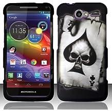 Bundle Accessory for US Cellular Motorola Electrify M XT901 - Spade Skull Hard Case Proctor Cover + Lf Stylus Pen + Lf Screen Wiper
