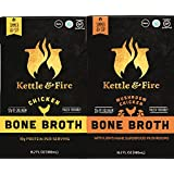Pilz & Chicken Bone Broths- 2 Pack (1 Mushroom Chicken / 1 Chicken) of Collagen & Gelatin Rich Bonebroth Stock for Ketogenic/Paleo/Gluten Free/Whole 30 Diet Friendly Nutrition from Ancient Source