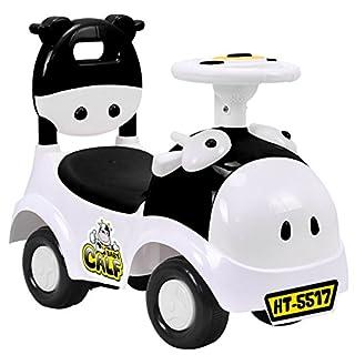 Costzon Kids Ride On Push Car, 3 in 1 Sliding Car Pushing Cart, Toddlers Ride On Toy w/ Working Horn & Music (Black&White)