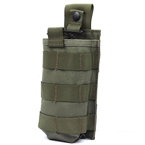 ROCOTACTICAL Tactical Radio Pouch - 1000D Tactical Molle Two Way Radios Holder Case For Walkie Talkies (Ranger Green)