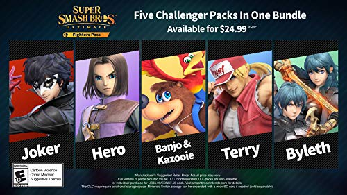 Super Smash Bros. Ultimate Fighter Pass DLC - Nintendo Switch [Digital Code]