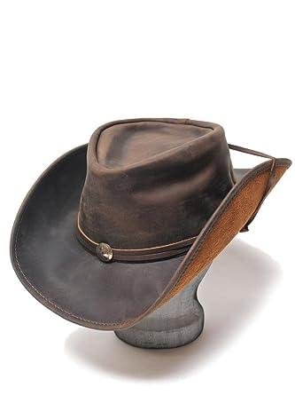 530836718b6418 Henschel Weekend Walker U-Shape-It Western Leather Hat Brown 1151-75-S at  Amazon Men's Clothing store: