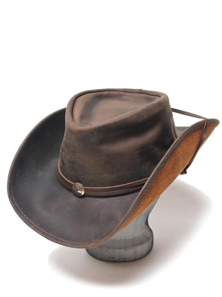 Henschel Weekend Walker U-Shape-It Western Leather Hat Brown 1151-75-S