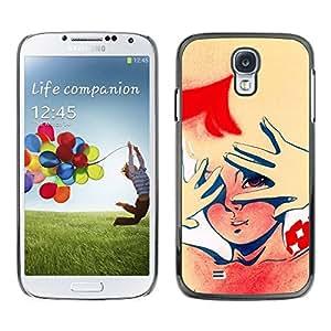 Carcasa Funda Prima Delgada SLIM Casa Case Bandera Cover Shell para Samsung Galaxy S4 I9500 / Business Style Funny Retro Sign