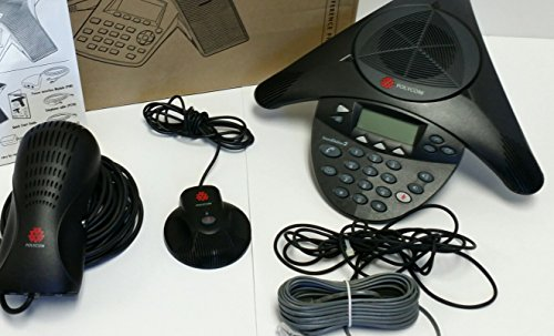 Polycom SoundStation 2 EX with 2 Mics Included (2200-16200-001)+(2200-16155-001)