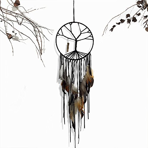 Dream Catcher Wall Hanging Decoration Tree of Life Crystal Handmade Pedant Amulet For Christmas Decroation Style Four