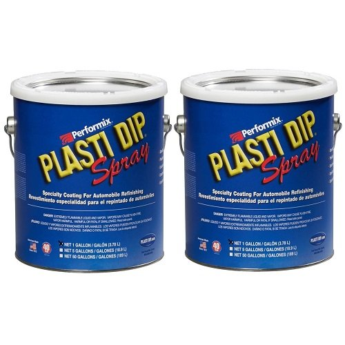 (Plasti Dip Multi Purpose Rubber Coating Spray - Black - 1 Gallon, (Pack of 2))