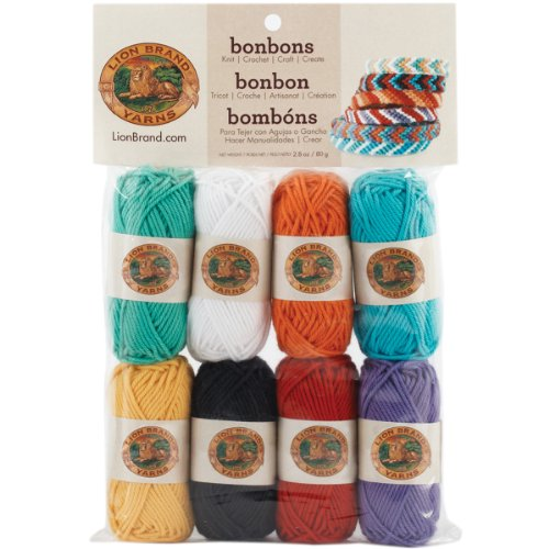 Lion Brand Yarn 601-630 Bonbons Yarn, Beach