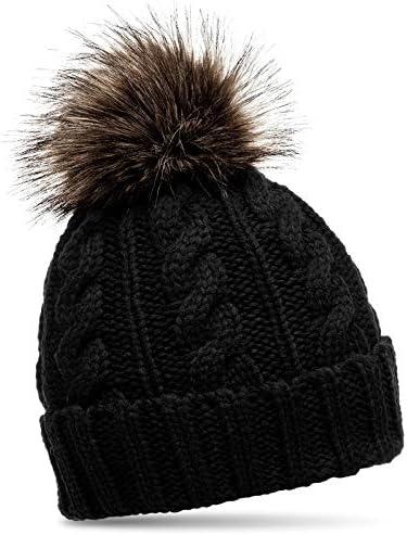 Ellie/'s Faux Fur PomPom Soft Winter Snood Scarf