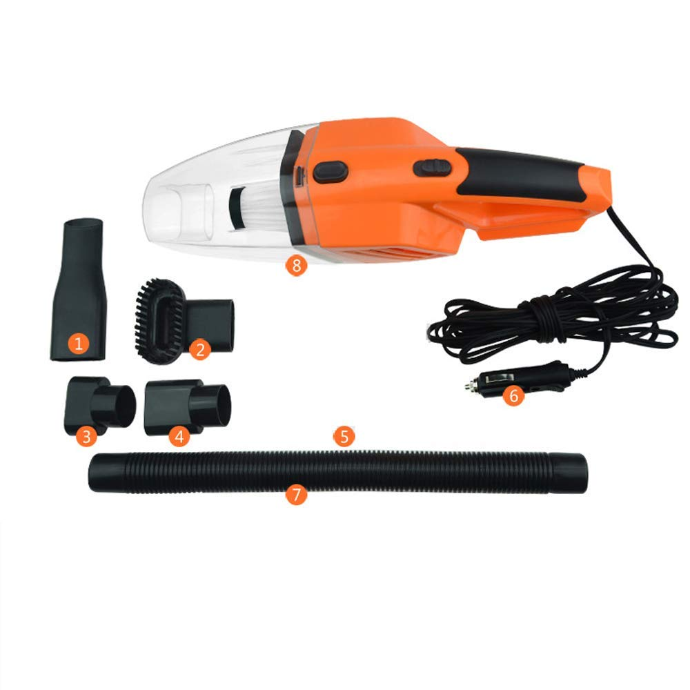 SNQKMLEP Car Vacuum Cleaner 12v 120w Portable Handheld Wet and Dry Dual Use 5 Meter Power Cord with LED Light Multi Dust Collector (Color : -, Size : -)
