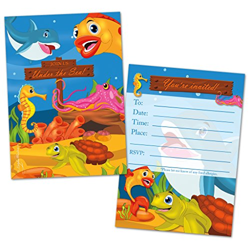 fish birthday invitations - 8