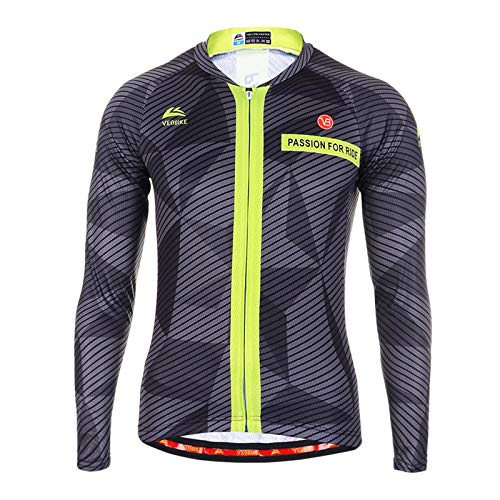 (EoCot Men's Cycling Breathable Jersey Long Sleeve Bike Shirt Bicycle Clothing Sportwear Asia 3XL=US XX-Large)