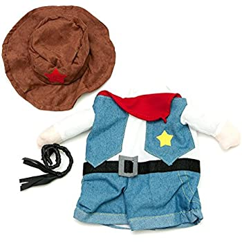 Small Fake Cowboy Arms Costume for Small Dogs by Midlee