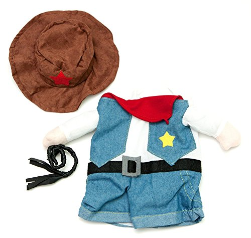 [Large Fake Cowboy Arms Costume for Small Dogs by Midlee] (Dog Cowboy Costume)