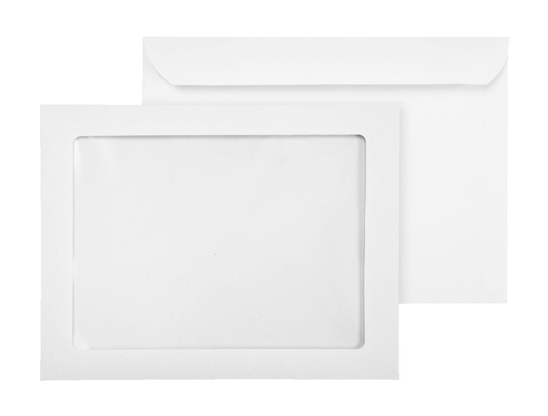 9 x 12 Full Window Booklet Envelopes-Showcase Headshot Clear Window 9x12 Envelope-28 Lb Bright White (55/Box)